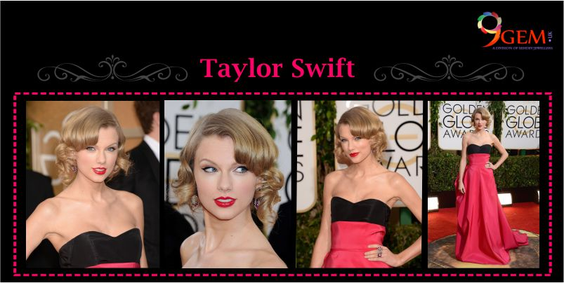 Taylor Swift Wear Ruby Gemstone Earring